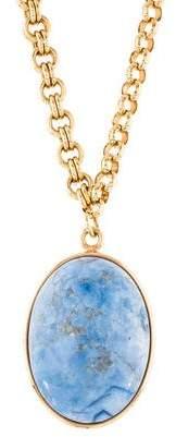 Fendi Dyed Magnesite Egg Pendant Necklace
