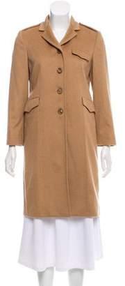 Miu Miu Camel Knee-Length Coat