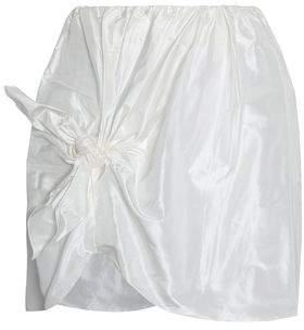Simone Rocha Knotted Silk-Taffeta Mini Skirt