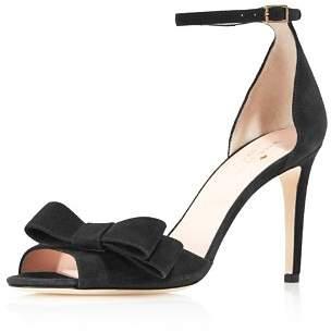 Kate Spade Women's Ismay Suede High-Heel Bow Sandals