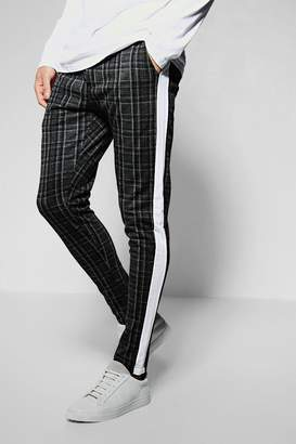 boohoo Super Skinny Smart Jogger With Taping