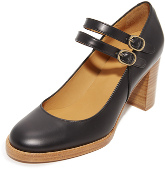A.P.C. Noemie Mary Jane Heels $470 thestylecure.com
