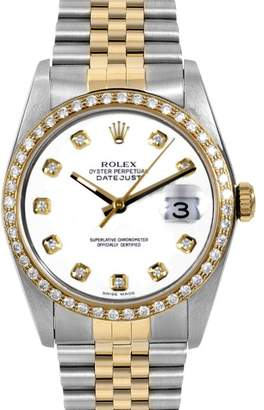 Rolex Datejust Yellow Gold & Stainless Steel 36mm Mens Watch $4,839 thestylecure.com