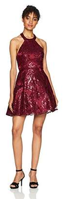 My Michelle Women's Sequin Lace Dress with Bar Back