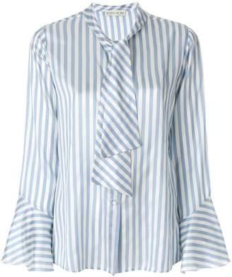 Etro striped pussy-bow shirt