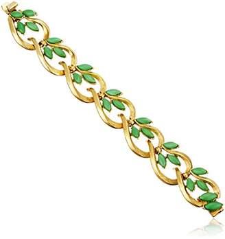 Ben-Amun Jewelry Garden Escape Marquise Glass Stones Gold Link Bracelet