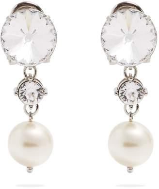 Miu Miu Faux-pearl and crystal clip-on earrings