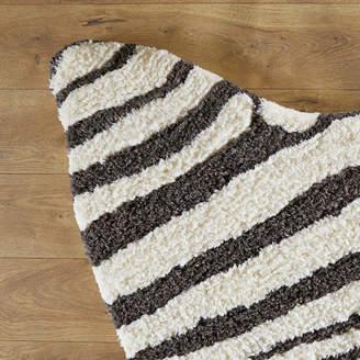 Birch Lane Kids Zebra Stripe Hand-TuftedFaux Cowhide Ivory/Charcoal Area Rug Rug