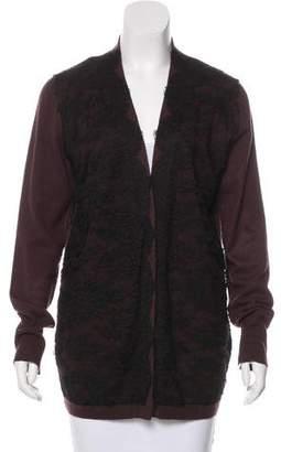 Zhor & Nema Lace-Trimmed Wool Cardigan
