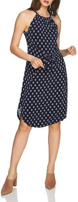 1 STATE 1.STATE Printed Tie-Front Dress