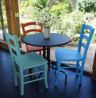 Rectory Blue Italian Cafe Chair Hand Painted In Any Colour