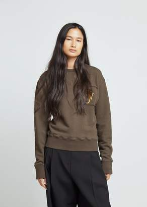 J.W.Anderson Raw Edge Logo Sweatshirt With Pocket Detail