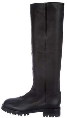 Helmut Lang Leather Knee-High Boots