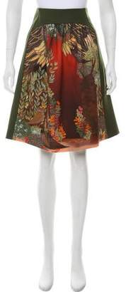 Alberta Ferretti Paneled A-Line Skirt