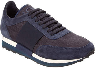 Moncler Horace Suede & Denim Sneaker