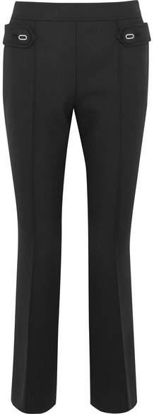 Prada - Wool-blend Flared Pants - Black