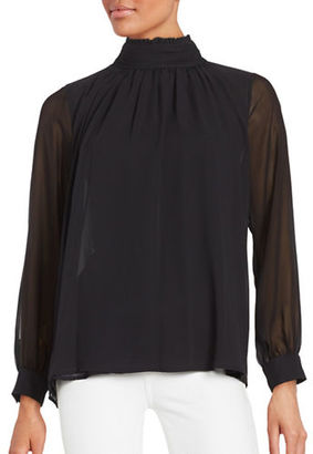 Vince Camuto Long Sleeve Ruffled Blouse $99 thestylecure.com