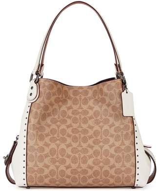 Coach Edie 31 Ivory Panelled Leather Tote
