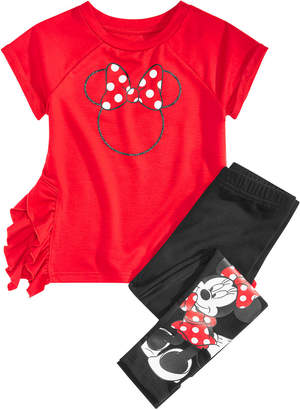 Disney Toddler Girls 2-Pc. Minnie Mouse Top & Leggings Set