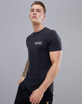 Lyle & Scott Fitness fitness pendle small logo t-shirt in black