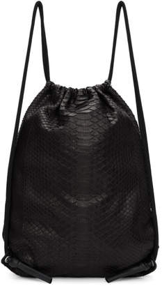Rick Owens Black Zaino Python Backpack