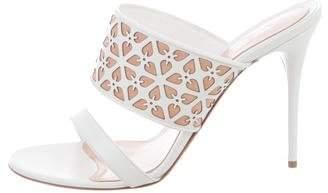 Alexander McQueen Leather Slide Sandals