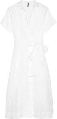 Lisa Marie Fernandez - Cotton And Linen-blend Striped Gauze Shirt Dress - White $575 thestylecure.com