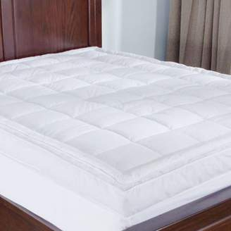 Puredown Premium Goose Down Mattress Pad Bed Topper, 75% Feather/25% Down White, King Size
