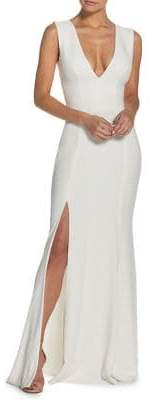 Dress the Population Sandra Slit Evening Gown