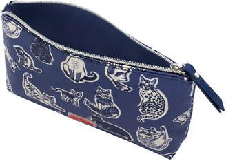 Cath Kidston Squiggle Cats Matt Zip Make up Bag