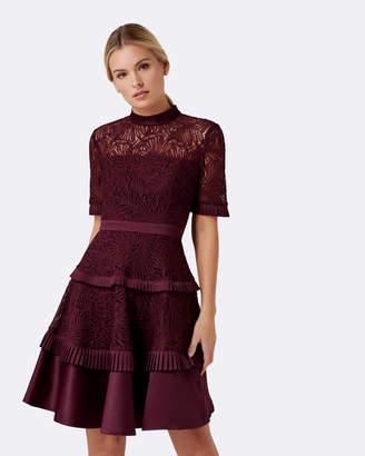 Forever New Raine Spliced Panel Prom Dress
