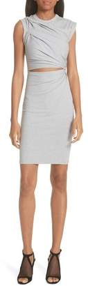 Alexander Wang Keyhole Twist Compact Jersey Dress