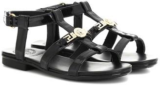 Versace Kids Patent leather sandals