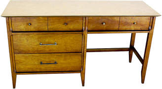 One Kings Lane Vintage Mid-Century Modern Walnut Desk - Vintage Bella Home