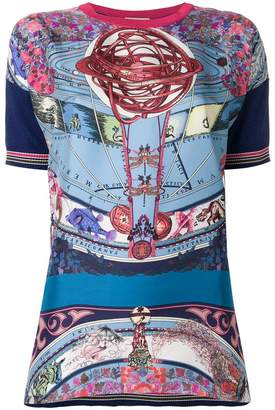 Etro mixed print top