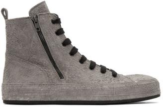 Ann Demeulemeester Grey Suede Rock Storm Sneakers