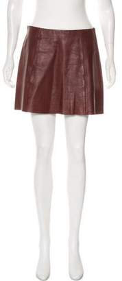Alexander Wang Mini Leather Skirt