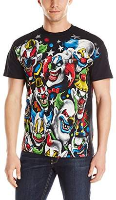 Liquid Blue Men's Plus-Size Colored Clowns T-Shirt