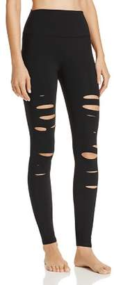Alo Yoga High-Waist Ripped Warrior Leggings