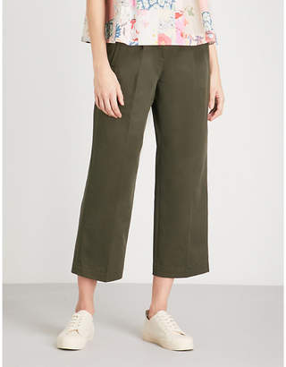 Claudie Pierlot Buckle fastening cotton trousers