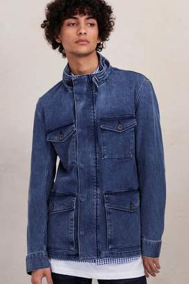 French Connection Track Stretch Denim Jacket
