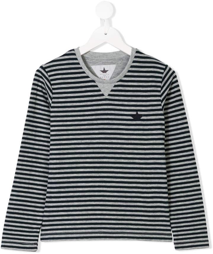 Macchia J Kids striped half star print top