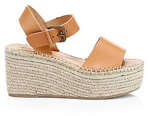 Soludos Women's Minorca Leather High Platform Espadrille Sandals
