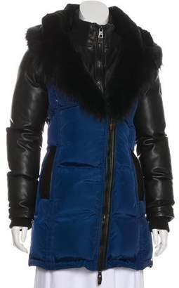 Nicole Benisti Fur-Trimmed Down Coat
