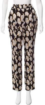 Jonathan Cohen Brocade Mid-Rise Pants
