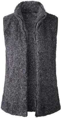 Goodnight Macaroon 'Charlee' High Collar Zip-Up Fleece Vest Jacket (2 Colors)