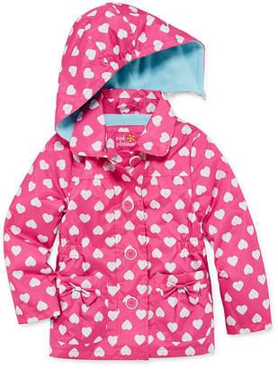Pink Platinum Girls Raincoat