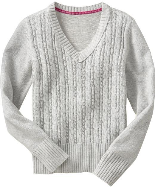 Old Navy Girls Cable-Knit Uniform Sweaters