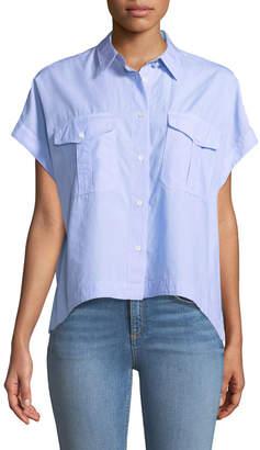 Rag & Bone Pearson Button-Down Short-Sleeve Cotton Shirt