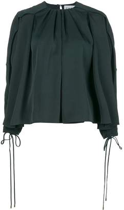 Carven pleated neck blouse